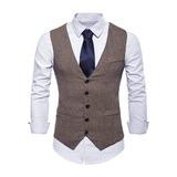 Classic linen Men's Vest (200197364)