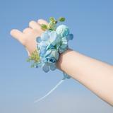Nice Free-Form Satin Wrist Corsage - (123177990)