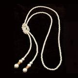 великолепный сплав с Имитация Перл горный хрусталь женские ожерелье (011053820)