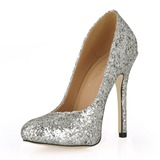 Vrouwen Sprankelende Glitter Stiletto Heel Closed Toe Pumps met Lovertje (047015207)
