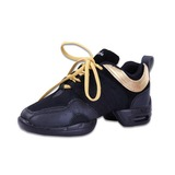 Женщины кожа Танцевальные кроссовки Практика с Шнуровка Обувь для танцев (053056413)