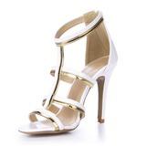 Лакированная кожа Сандалии На каблуках Открытый мыс обувь (087051706)