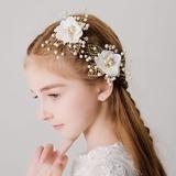 avec De faux pearl/Une fleur épingles à cheveux (Lot de 2) (198189066)