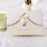 Bride & Groom Estilo prega Topo Invitation Cards com Fitas (Conjunto de 10) (114032370)