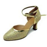 Mulheres Couro Espumante Glitter Saltos Bombas Salão de Baile Sapatos de dança (053013450)
