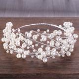 Moda Di faux perla Diademi con Perla Veneziano (Venduto in un unico pezzo) (042200773)