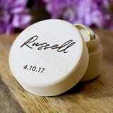 Simple/Elegant Ring Box in Wood (103197333)