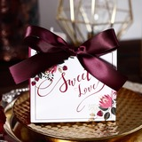 Sweet Love/Classic Other Card Paper Favor Boxes With Ribbons (Set of 30) (050197411)