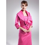 Half-Sleeve Satin Special Occasion Wrap (013024371)