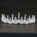 Ladies Exquisite Rhinestone/Alloy/Imitation Pearls Tiaras With Rhinestone (Sold in single piece) (042172294)