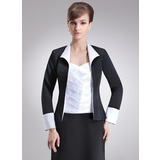 Long Sleeve Satin Special Occasion Wrap (013017201)