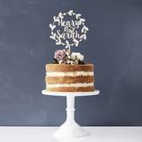 Personalizado Noiva e Noivo Madeira Decorações de bolos (119187768)