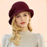 Dames Mooi/Elegant/Eenvoudig Wol Slappe Hat (196189109)
