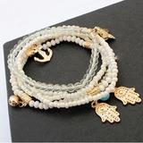 Exotic Alloy Resin Women's Fashion Bracelets (Set of 5) (137197219)