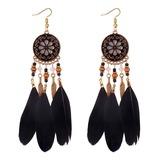 Unique Alloy Feather Women's Fashion Earrings (137190488)