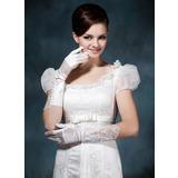 Упругие атласная локоть длина Свадебные перчатки (014020477)