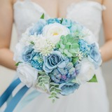 Charming Satin/Fabric Bridal Bouquets - (123177936)