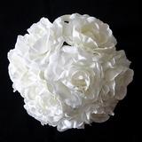 Изящные/Белый Круглый атласная Свадебные букеты (123031422)