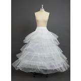 Women Nylon/Tulle Netting Floor-length 5 Tiers Petticoats (037034009)