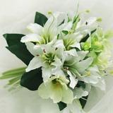 Привлекательным Ручная работа атласная Свадебные букеты (124032146)