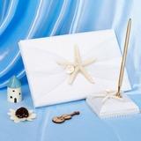 Estrelas do mar e Concha Livro de visitas & conjunto de canetas (101018133)