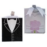 dello sposo & Style Sposa e Sposo Carta della carta Photo Frames (Venduto in un unico pezzo) (051193815)