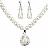 Liga/Falso pérola com Falso pérola Senhoras Conjuntos de jóias (011177840)
