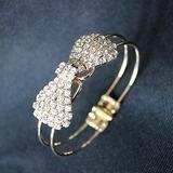 Strik Koper met Strass Dames Armbanden (011052749)