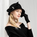 Ladies' High Quality/Artistic Wool Floppy Hat (196178761)
