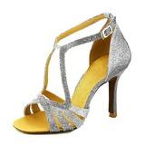 Women's Sparkling Glitter Heels Latin Dance Shoes (053155433)