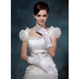 Упругие атласная локоть длина Партии/мода перчатки/Свадебные перчатки (014020518)