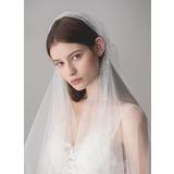 One-tier Elbow Bridal Veils With Rhinestones (006182541)