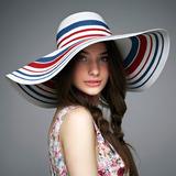 женские красочные Ротанг Стро флоппи-Шляпа/соломенная шляпа (196092533)