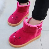 Girl's Closed Toe Snow Boots Suede Flats (207191625)