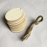Simple/Nice Nice/Pretty Wooden Wedding Ornaments (set of 10) (131178933)