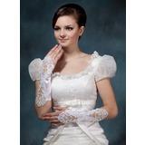 Elastische Satin Elbow Lengte Bruids Handschoenen (014020519)