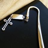 Крест дизайн Нержавеющая сталь Закладки с Кулон (051020309)