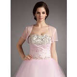 Short Sleeve Tulle Special Occasion Wrap (013016352)
