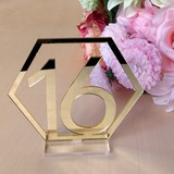 Personalized Classic Acrylic Table Number Cards (Set of 20) (051179148)