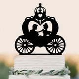 Casal clássico/felice Anniversario Acrílico Decorações de bolos (Vendido em uma única peça) (119187349)