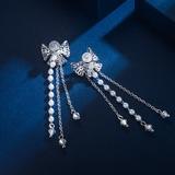 Bow Shaped Zircon Copper With Zircon Women's Fashion Earrings (Sold in a single piece) (137199484)