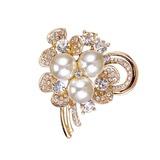 Chic Alloy/Rhinestones/Imitation Pearls With Rhinestone/Imitation Pearls Ladies' Brooch (011201133)