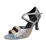 Женщины кожа На каблуках Сандалии Латино с Ремешок на щиколотке Обувь для танцев (053013243)