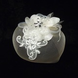 Elegant Netto garen/Tule Fascinators met Strass/Venetiaanse Parel (042026077)
