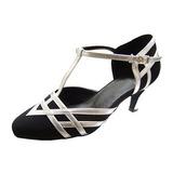 Женщины кожа нубук На каблуках На каблуках Современный с Т-ремешок Обувь для танцев (053012999)