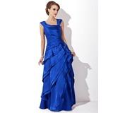 Трапеция/Принцесса V-образный Длина до пола Шармёз Платье Для Матери Невесты с Ниспадающие оборки (008006288)