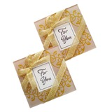 Lovely Square Glass Creative Gifts With Ribbons (051201897)
