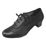 Женщины Натуральня кожа На каблуках На каблуках Бальные танцы Практика с В дырочку Обувь для танцев (053013133)