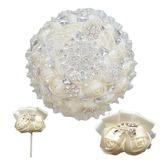 Rund Satin/Strass Blumen-Sets (Satz von 3) - Armbandblume/Knopflochblume/Brautsträuße (123182150)