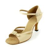 Женщины Атлас На каблуках Сандалии Латино с пряжка Обувь для танцев (053013189)